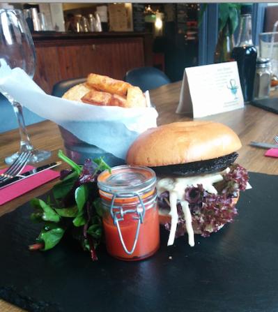 Wick mushroom burger