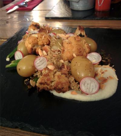 Roast cauliflower, broccoli and quinoa salad