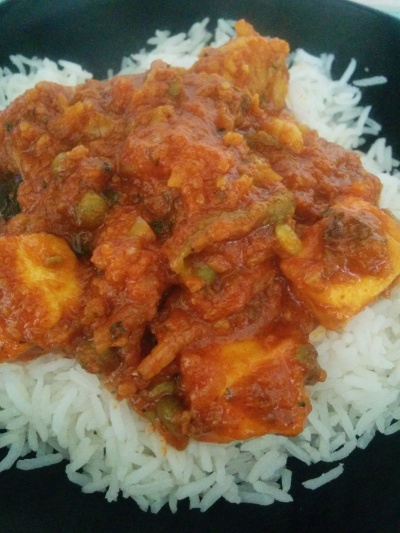 Butlers mixed veg balti with paneer