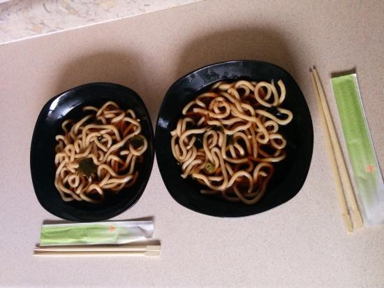 Sakushi udon noodles