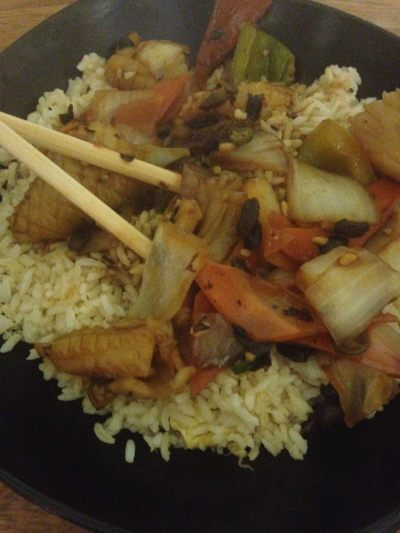 china house rice and black bean sauce