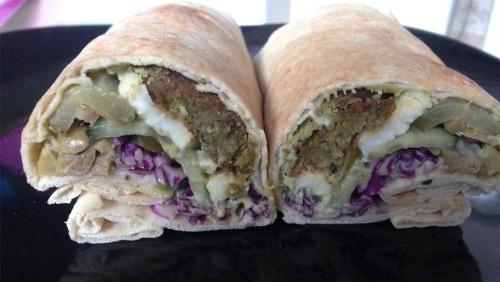 fanoush falafel tzatziki