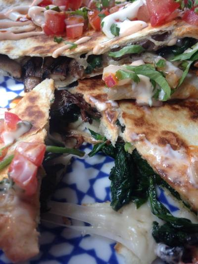 Great Gatsby close up quesadillas