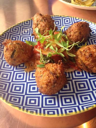Great Gatsby courgette and quinoa fritters